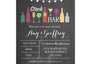 Stock Your Bar Party Invitations Stock the Bar Chalk Party Engagement Invitation Zazzle Com