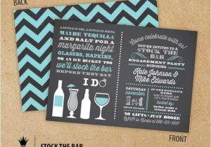 Stock Your Bar Party Invitations Stock the Bar Couples Engagement Party Invitations