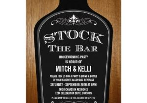 Stock Your Bar Party Invitations Stock the Bar Housewarming Party Invitations Zazzle