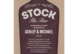 Stock Your Bar Party Invitations Stock the Bar Shower Invitations Zazzle