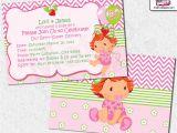 Strawberry Shortcake Baby Shower Invitations Baby Shower Strawberry Shortcake Invitations