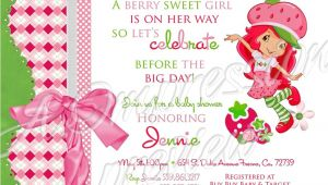 Strawberry Shortcake Baby Shower Invitations Strawberry Shortcake Baby Shower Invitation
