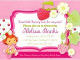 Strawberry Shortcake Baby Shower Invitations Strawberry Shortcake Baby Shower Invitations