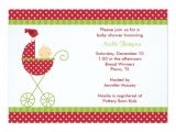 Stroller Baby Shower Invitations Christmas Stroller Baby Shower Invitations