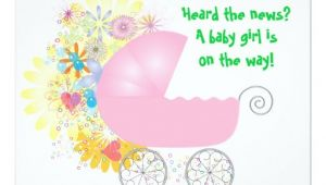"Stroller Baby Shower Invitations Pink Stroller Baby Shower Invitation 4 25"" X 5 5"