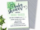 Succulent Baby Shower Invitations Succulent Baby Shower Invitation Gender Neutral Baby