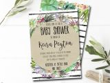 Succulent Baby Shower Invitations Succulent Baby Shower Invitation Printable Summer Baby Shower