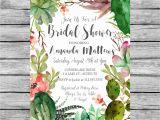 Succulent Bridal Shower Invitations Bridal Shower Succulent Invitation Printable by