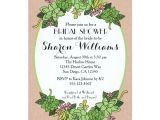 Succulent Bridal Shower Invitations Succulent Bridal Wedding Shower Invitation