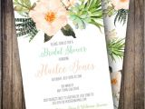 Succulent themed Bridal Shower Invitations Boho Watercolor Bridal Shower Invite Succulent Bridal