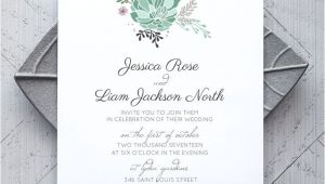 Succulent Wedding Invitation Template Succulent Printable Wedding Invitation Alchemie Press