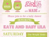 Sugar and Spice Baby Shower Invites Sugar and Spice Baby Shower Invitation Baby Girl Shower