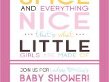 Sugar and Spice Baby Shower Invites Sugar and Spice Baby Shower Invitations