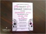 Sugar Skull Baby Shower Invitations Pink Sugar Skull Baby Shower Invitations Citlali