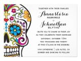 Sugar Skull Party Invitations Personalized Skull Invitations Custominvitations4u Com