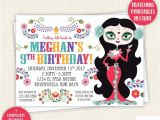 Sugar Skull Party Invitations Sugar Skull Birthday Invitation Day Of the Dead Dia De Los