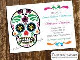 Sugar Skull Party Invitations Sugar Skull Birthday Invitation Sweet Sixteen Sweet 16