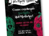 Sugar Skull Party Invitations Sugar Skull Invitation Sugar Skulls Birthday Day Of the Dead
