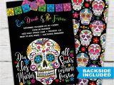 Sugar Skull Party Invitations Sugar Skull Party Invitation Dia De Los Muertos Invitations