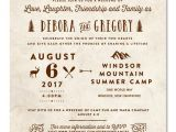 Summer Camp Wedding Invitations Summer Camp Wedding Invitations On Vintage 100 Recycled