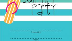 Summer Party Invitation Template Mckissick Creations Summer Party Invitation Free Printable
