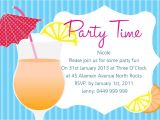 Summer Party Invitation Wording Summer Party Invitation Wording Cobypic Com