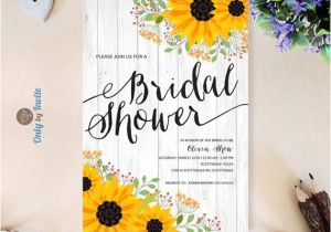 Sunflower Bridal Shower Invitation Templates 14 Printable Bridal Shower Invitations Examples