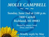 Sunflower Bridal Shower Invitation Templates 21 Sunflower Wedding Invitation Templates – Free Sample
