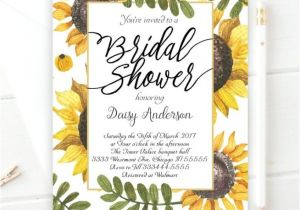 Sunflower Bridal Shower Invitation Templates Bridal Shower Invitation Templates Sunflower Bridal Shower