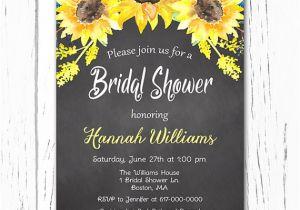 Sunflower Bridal Shower Invitation Templates Items Similar to Sunflower Bridal Shower Invitation