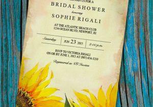 Sunflower Bridal Shower Invitation Templates Printable Bridal Shower Invitation Template Vintage Sunflower