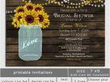 Sunflower Bridal Shower Invitation Templates Printable Sunflowers Bridal Shower Invitation by Mgdezigns