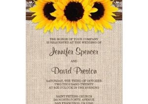 Sunflower Bridal Shower Invitation Templates Rustic Country Sunflower Wedding Invitations