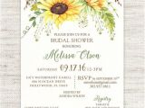 Sunflower Bridal Shower Invitation Templates Sunflower Bridal Shower Invitation Wedding Shower