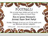 Super Bowl Party Invitation Wording Football Border Super Bowl Party Invitations