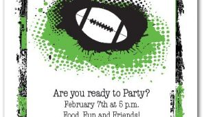 Super Bowl Party Invitation Wording Grunge Football Super Bowl Party Invitations