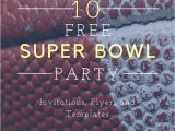 Super Bowl Party Invitations Free Printable 10 Free Super Bowl Party Invitations Printable Flyer