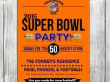 Super Bowl Party Invitations Free Printable Super Bowl 50 Printable Football Party Invitations