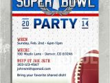 Super Bowl Party Invitations Free Printable Super Bowl Party Invitation Customized Printable Diy A