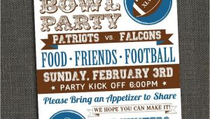 Super Bowl Party Invite Michele Purner Designs