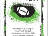 Super Bowl Party Invites Grunge Football Party Invitations