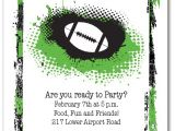 Super Bowl Party Invites Grunge Football Super Bowl Party Invitations