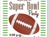 Super Bowl Party Invites Stripes and Football Super Bowl Party Invitations