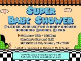 Super Mario Baby Shower Invitations Super Mario Baby Shower Invite How to
