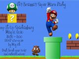 Super Mario Bros Birthday Party Invitation Templates Best Of Brianna the Super Mario Bros Party