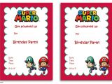 Super Mario Bros Birthday Party Invitation Templates Free Printable Super Mario Bros Invitation Template Free