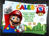 Super Mario Bros Birthday Party Invitation Templates Free Template Super Mario Bros Birthday Invitations