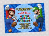 Super Mario Bros Birthday Party Invitation Templates Items Similar to Super Mario Bros Birthday Party