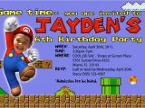 Super Mario Bros Birthday Party Invitation Templates Super Mario Birthday Invitations Bagvania Free Printable