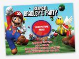 Super Mario Bros Birthday Party Invitation Templates Super Mario Birthday Invitations Bagvania Free Printable